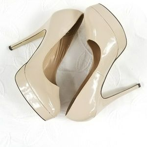 JustFab Nude Platform Stiletto Heels